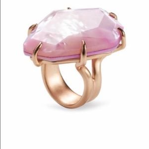 Kendra Scott Megan pink ring size 7 gold tone NWT